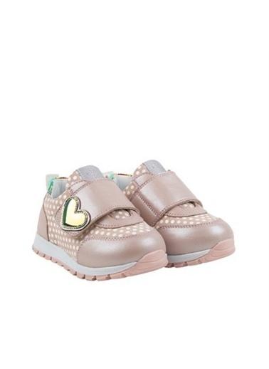 Kids A More Bubble Tek Cırtlı Deri Kız Bebek Ayakkabı  Pudra